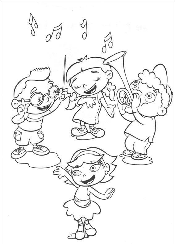 Dibujos para Colorear Mini Einsteins 1 | fichas musica | Pinterest ...