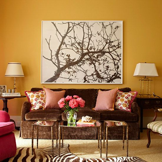 Living Room Designs Funny Colorful Living Room Decorating: Decorate With Spring's Hot Colors