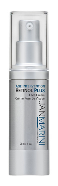 Jan Marini Age Intervention Retinol Plus is a Retinol and Peptide cream to improve fine lines and wrinkles, increase skin tone and exfoliate brown spots and large pores.  Patent-Pending Peptides and stabilized Retinol work together to increase collagen production and rejuvenate the skin without irritation.  Brown spots, large pores, blemishes and melasma gently exfoliate away.  Retinol Plus is also great for acne, ingrown hair and razor bumps. www.dermpoint.com
