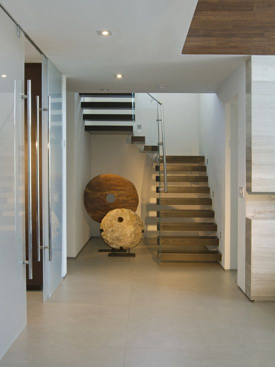 Open Riser Switchback Stair Design, Pictures, Remodel, Decor and ...