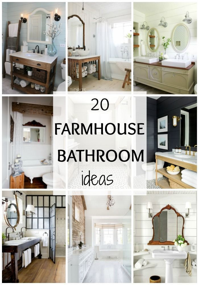 20 best farmhouse bathrooms to get that fixer upper style bathroom ideas pinterest. Black Bedroom Furniture Sets. Home Design Ideas