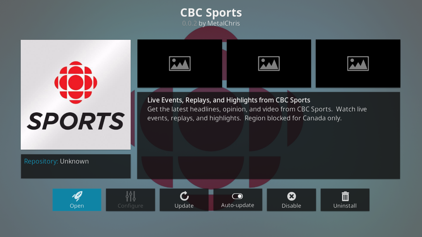 Watching CBC Sports on Kodi For The Best In Canadian