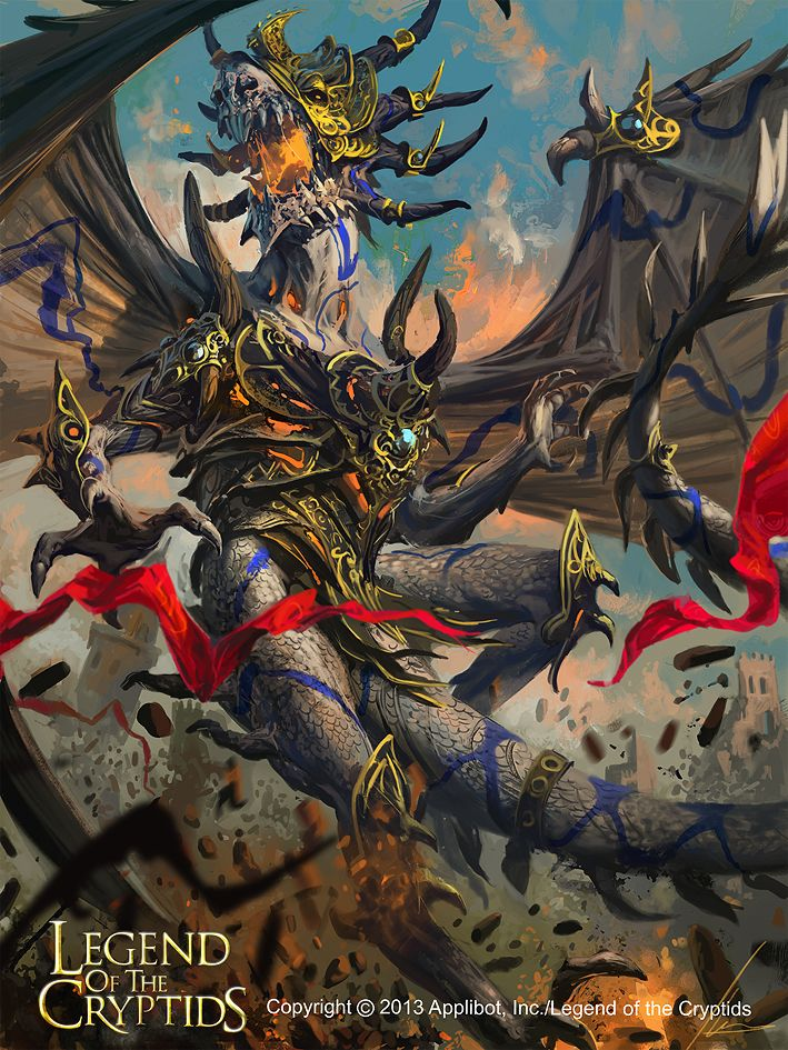 Artist: Ignacio Bazán Lazcano aka neisbeis - Title: Armored dragon - Card: Awakened Armored Dragon (Howling)