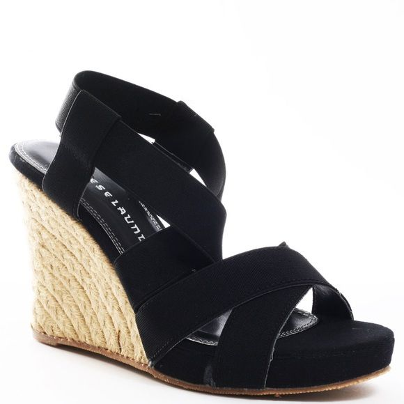 Chinese Laundry Black Wedge Sandals Gently Worn Once Wedge Heel 4 1 2 Inches Chinese Laundry Shoes Wedges Black Wedge Sandals Wedge Sandals Wedges