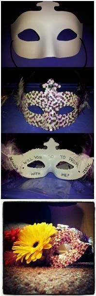 Junior Prom proposal for a Masquerade Themed Prom #promproposal