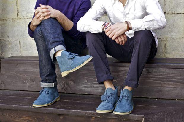 Clarks Originals Slate Blue Desert Boot | Clarks desert boot