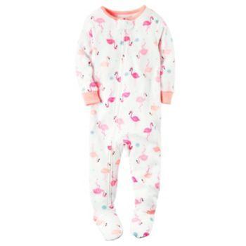 cb65d9e71e1b Baby Girl Carter s Flamingo Footed Pajamas