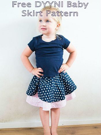 Free Girls Skirt Sewing Pattern - Dyyni Skirt | Nähen, Nähen für ...