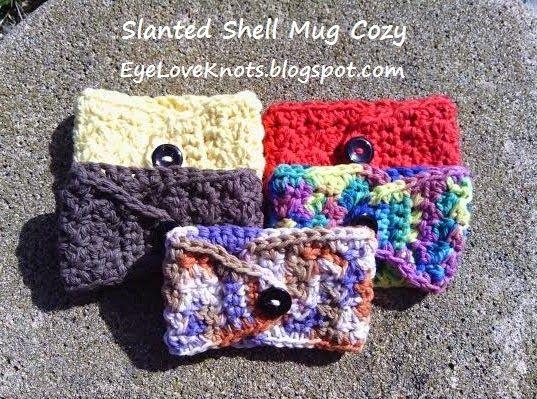 Crochet Slanted Shell Coffee Mug Cozy Free Pattern S Crochet