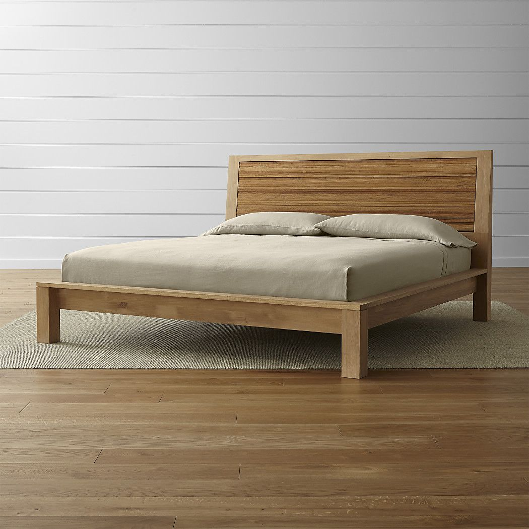Sierra King Bed Crate And Barrel With Images Bed Furniture