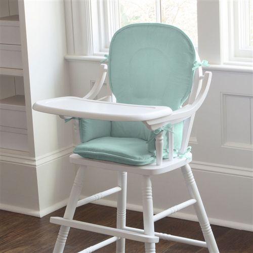 Solid Seafoam Aqua High Chair Pad Rocking Chair Pads