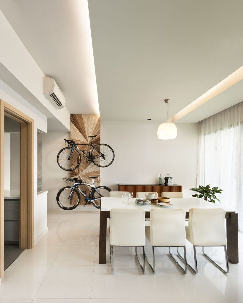 65 Livia Minimalism Condominium Interior Design Dining Area With Bicycle Hanger