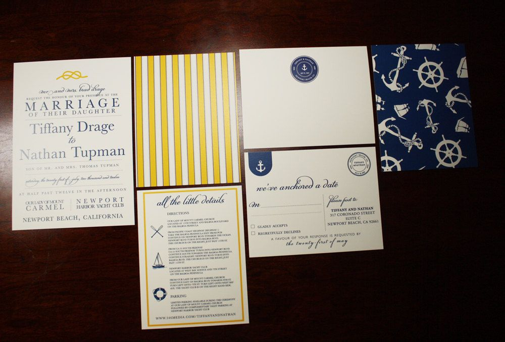 "Nautical Wedding Invitation Collection by seahorsebendpress I'm really just obsessed with ""The Little Details"" card."