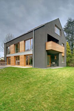 Projektbild Graues Haus Mit Holz Your Home Group Board