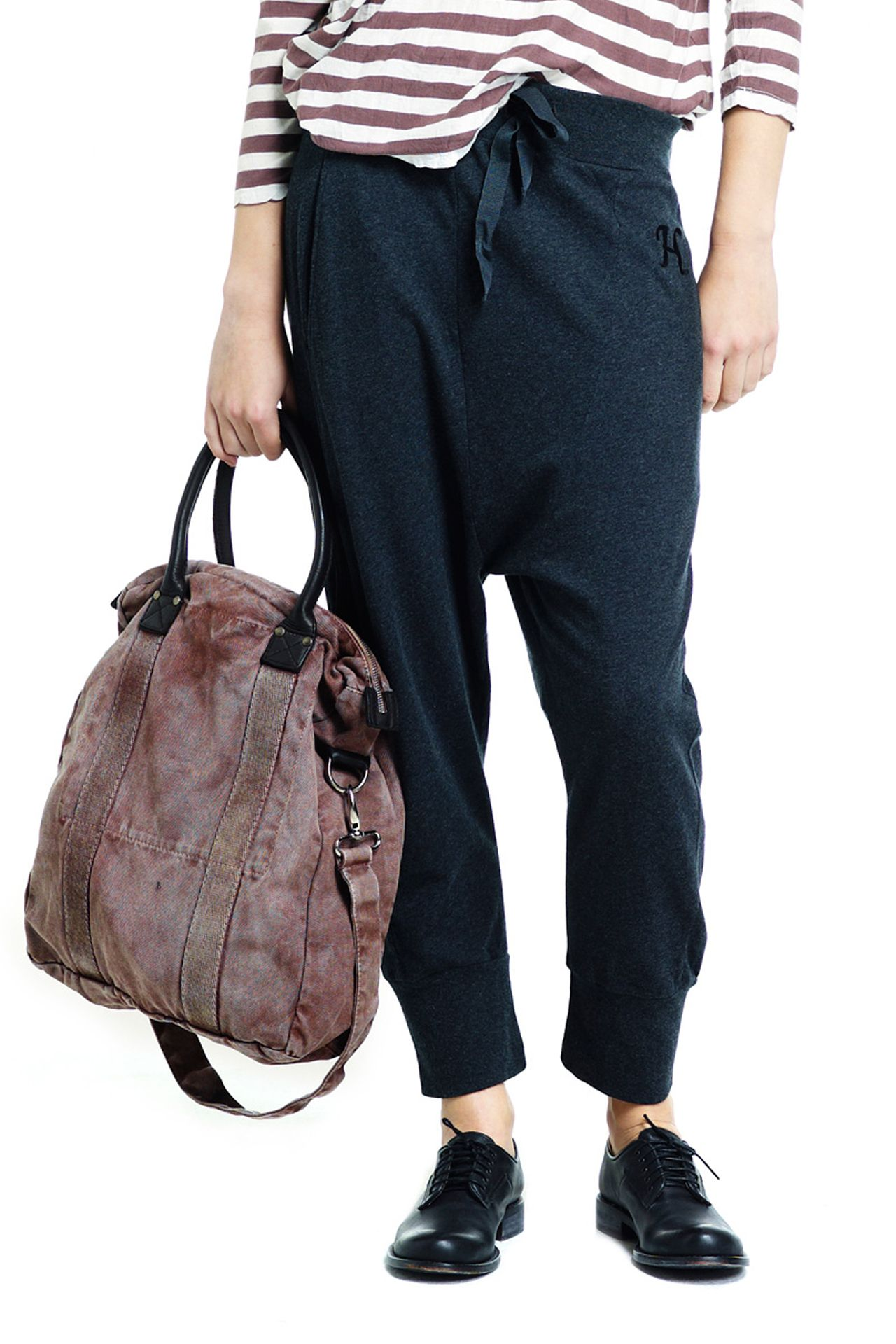 SELF TROUSER / ANTRACITE Get totally cosy in our fine ...
