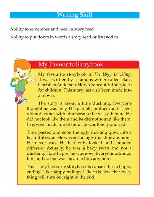 3rd Grade Descriptive Essay My Favourite Storybook Sample Reading Comprehension Lesson Learn English Word Writing Skills Favorite Writer Subject