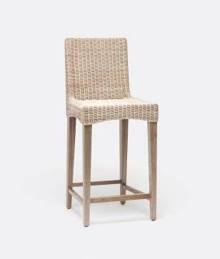 Macdonald Wicker Counter Stool Br Kitchen Island Chairs