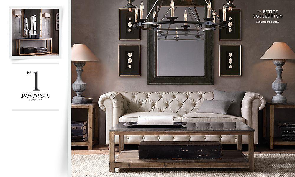 Rooms restoration hardware sea shells on black - Restoration hardware living room ideas ...