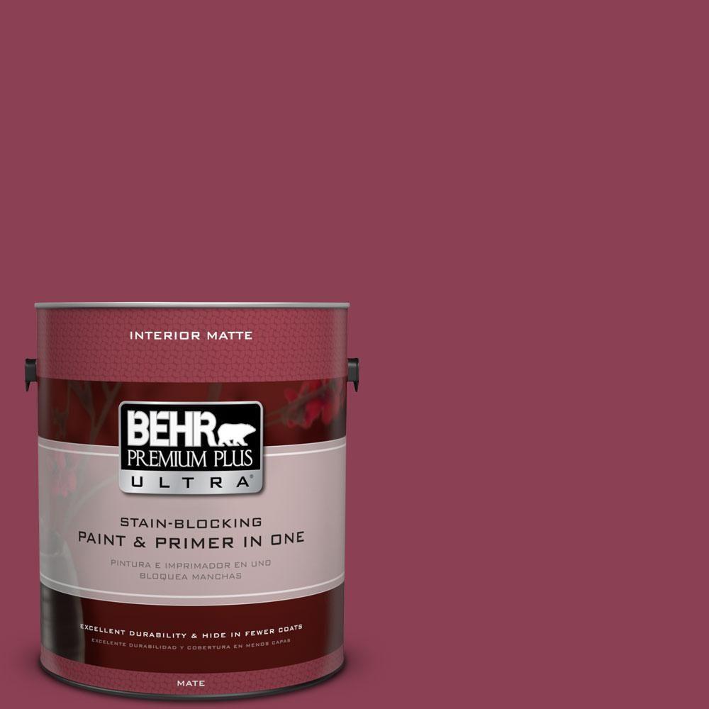 BEHR Premium Plus Ultra 1-gal. #T15-1 Liaison Flat/Matte Interior Paint