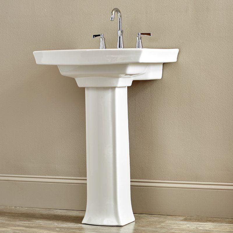 Archer Vitreous China 24 Pedestal Bathroom Sink