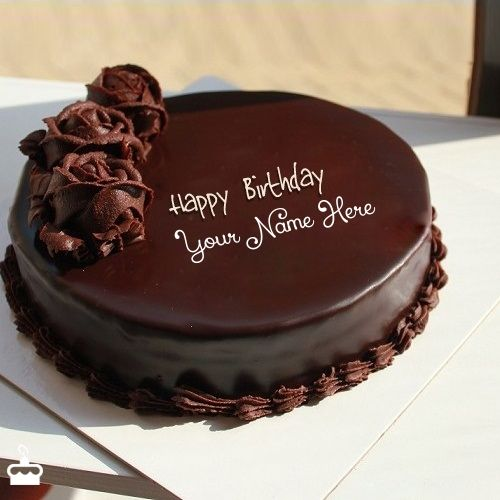 Write Name On Chocolate Cake For Birthday This Is The