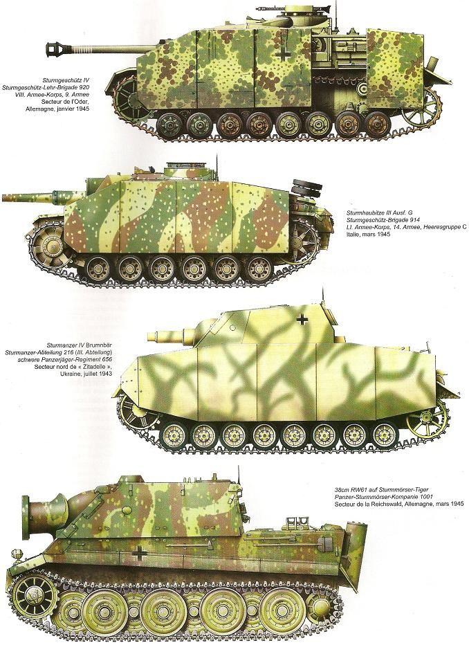 Camouflages, numerotation et marquages des Panzer   Color plates