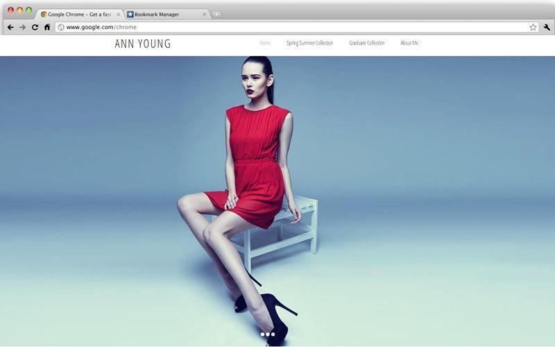 Minimalist Fashion Designer Portfolio Design Website Your