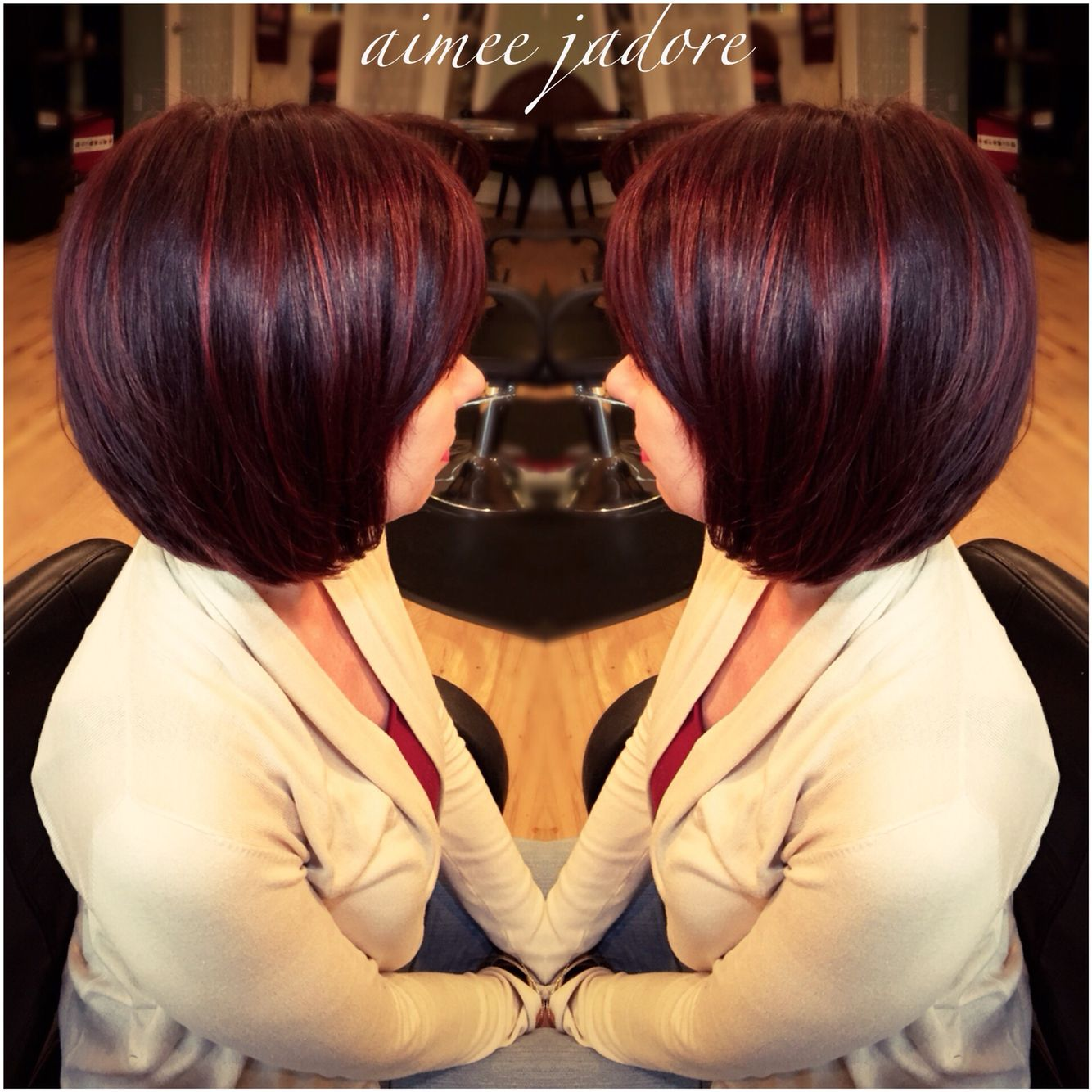 Dark Cherry Cola Hair For My Client Today Find Me On Instagram