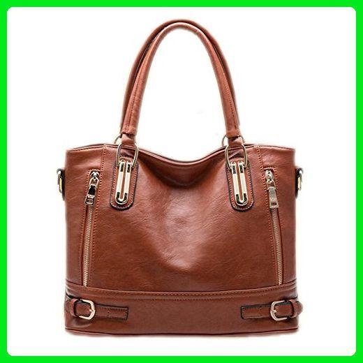 65817cc06a6db Catkit Vintage Womens Zip Design Tote Handbag Ladies Crossbody Shoulder Bag  Brown - Shoulder bags (*Amazon Partner-Link)