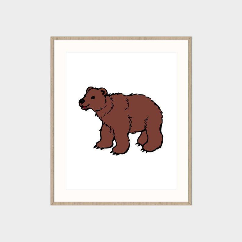 Bear Wall Art Printable Wall Art Digital Download Printable Art Digital Art Art Print Wall Decor Cute Bear Print Animal Print In 2020 Digital Art Printables Bear Wall Art Printable Wall Art