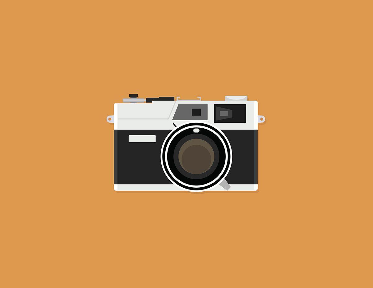 Vintage Film Camera Illustrations on Behance   Camera illustration ...