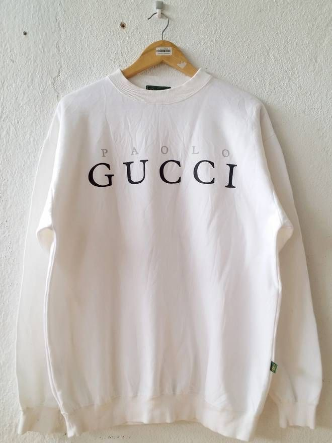 02b09161d Gucci Rare! Paolo Gucci Spell Out Sweatshirt Jumper Pullover Size Large Size  US L / EU 52-54 / 3