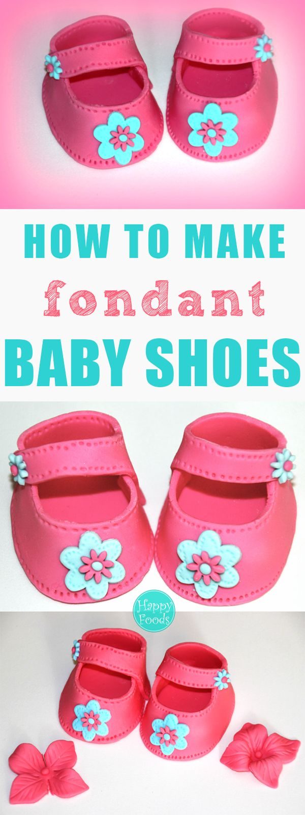How To Make Fondant Baby Shoes (Video Tutorial)
