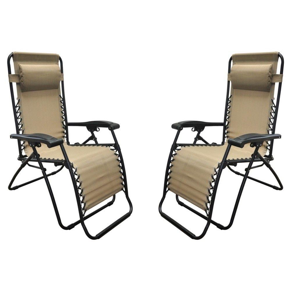 Caravan Global 2 Piece Infinity Zero Gravity Chair Beige