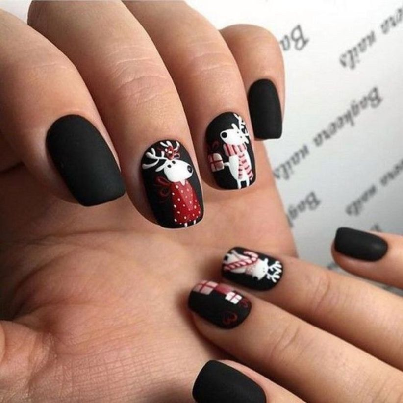 Gel Nails For Christmas 2019: 49 Outstanding Holiday Winter Nails Art Designs 2019 (With