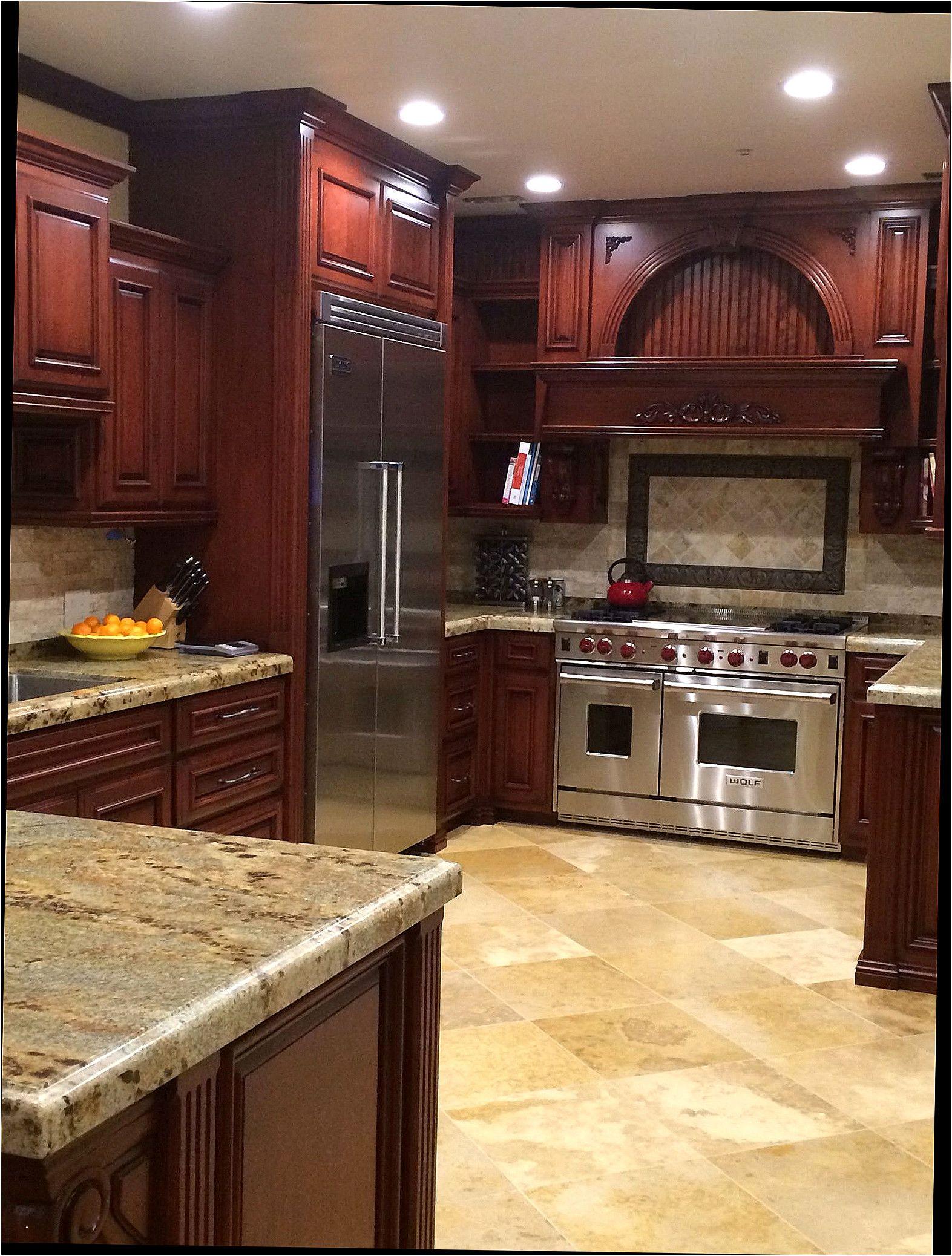 Kitchen Ideas Cherry Colored Cabinets. Elegant Kitchen ...