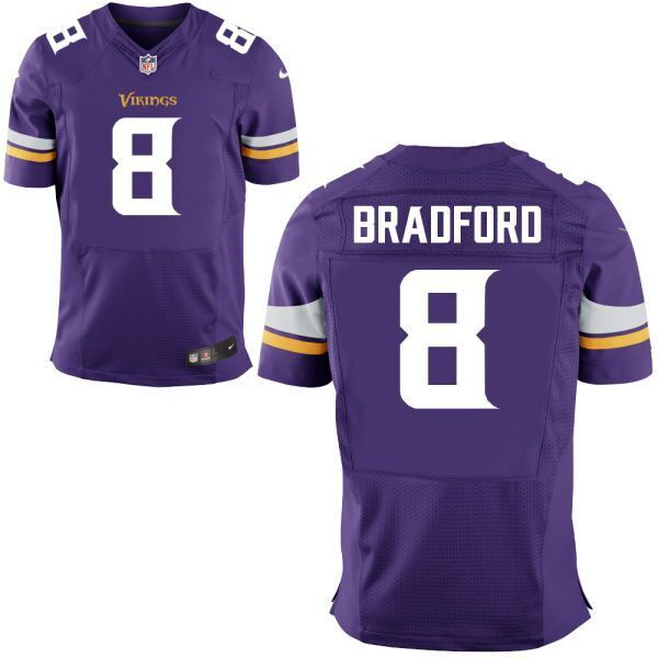 NFL Vikings 8 Sam Bradford Purple Nike Elite Men Jersey