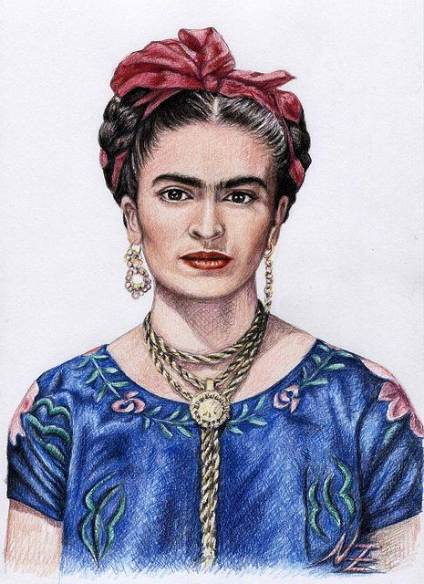 Hommage to Frida Kahlo by Chicassa on Flickr.