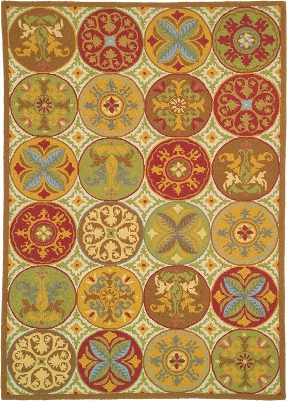 Company C Stepping Stones 18191 E Hand Hooked Area Rug