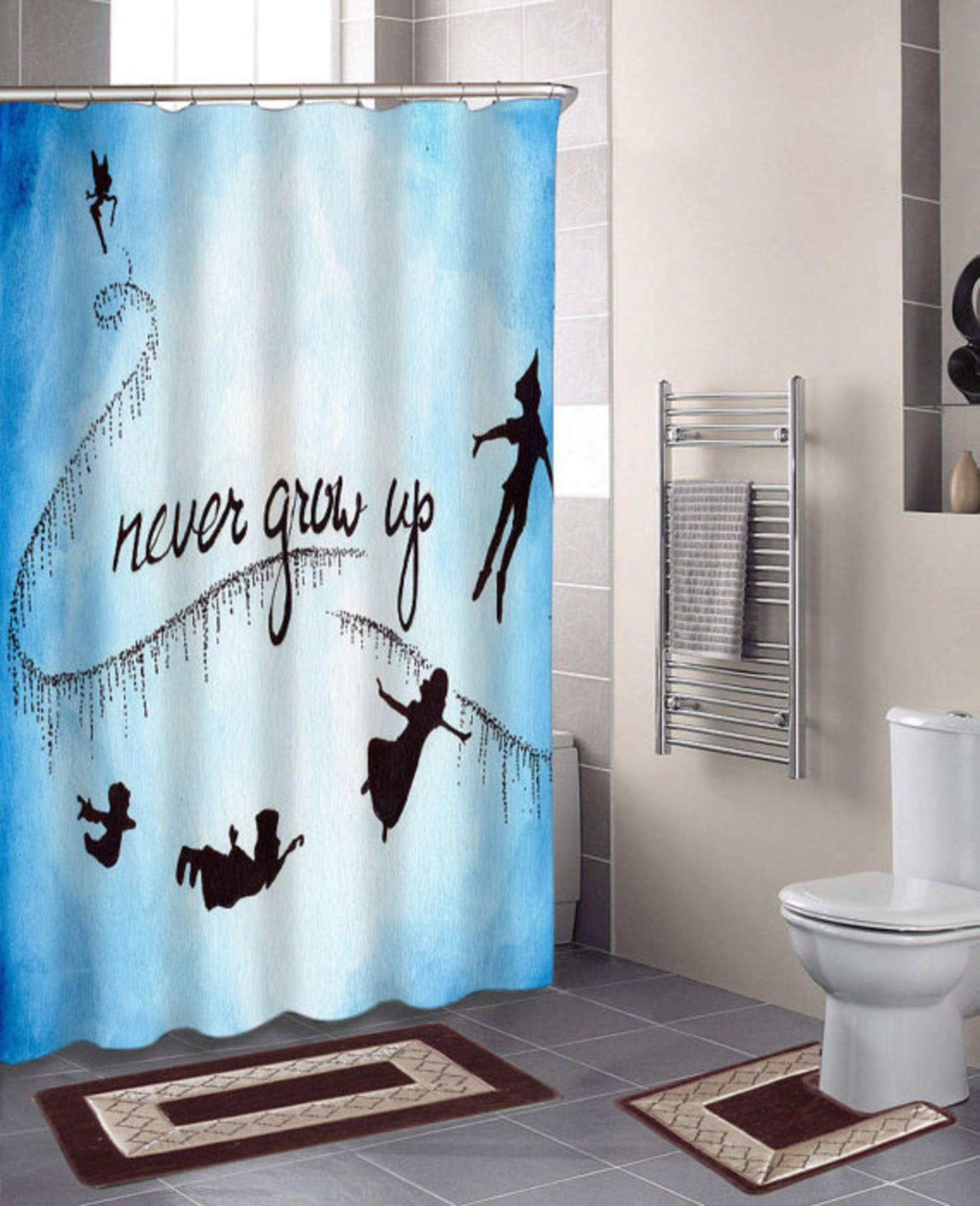Peter Pan Never Grow Up specials custom shower curtains that will ...