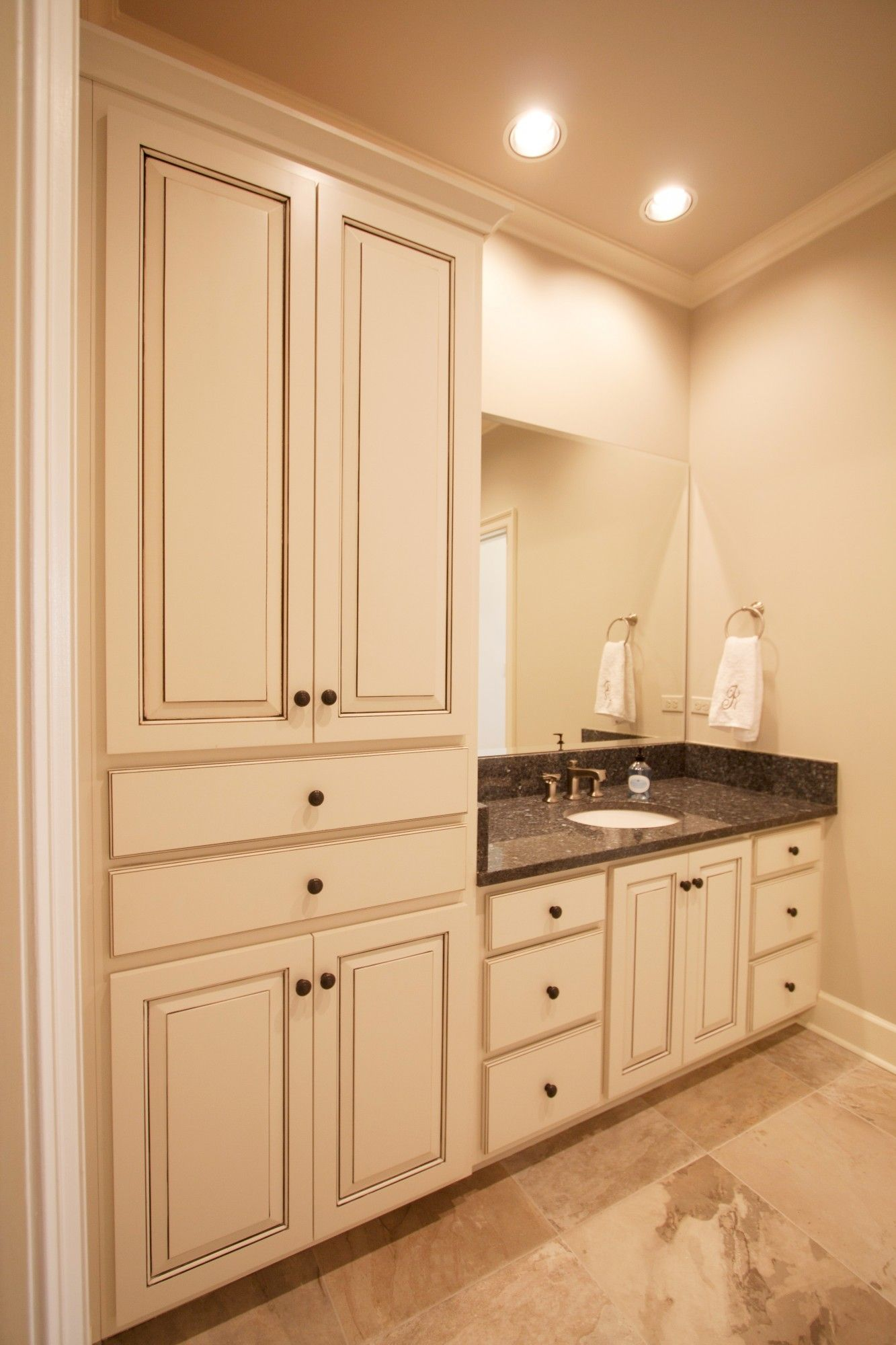 Glazed Bathroom Vanity Cabinets | Northshore Millwork, LLC | Bathrooms