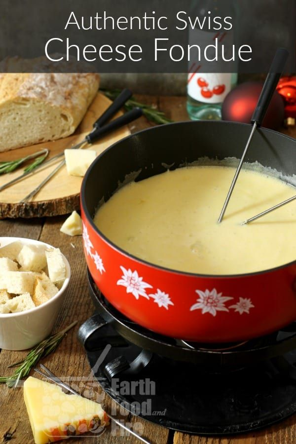 Authentic Swiss Cheese Fondue #fonduecheese
