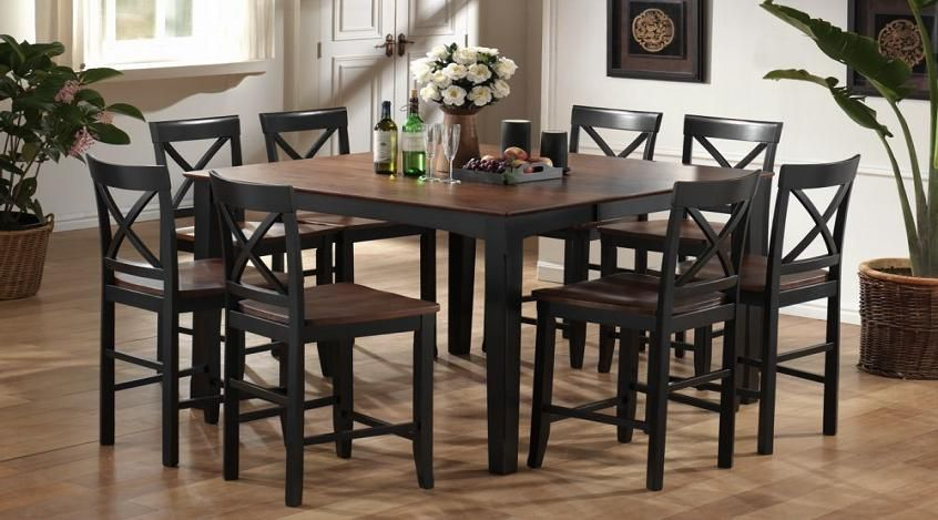 Bel Furniture Store7 Pc Two Tone Extension Counter Top Table Includes 1 Table And 6 Stools Jp T6ex Top Kitchen Table Dinning Room Decor Marble Top Dining Table