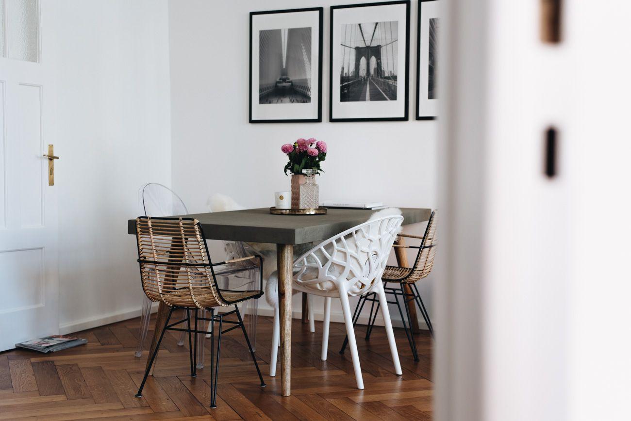 More On Www.fashiioncarpet.com Esszimmer, Essecke Mit Betontisch, Stuhl Mix,