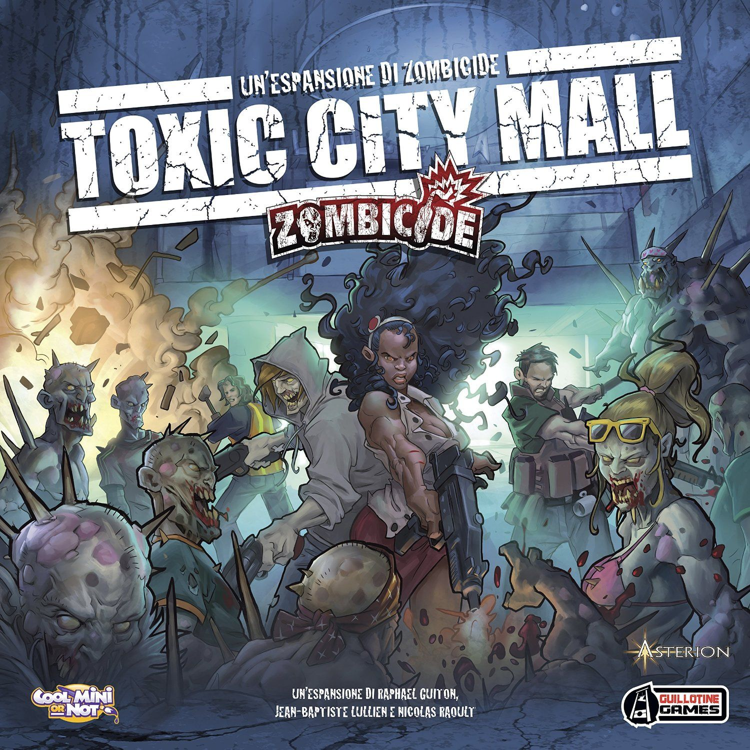 Amazon.com: Zombicide Toxic City Mall Expansion Board Game: Toys & Games