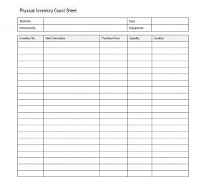 Free Inventory Count Sheet  Energy Info    Count And