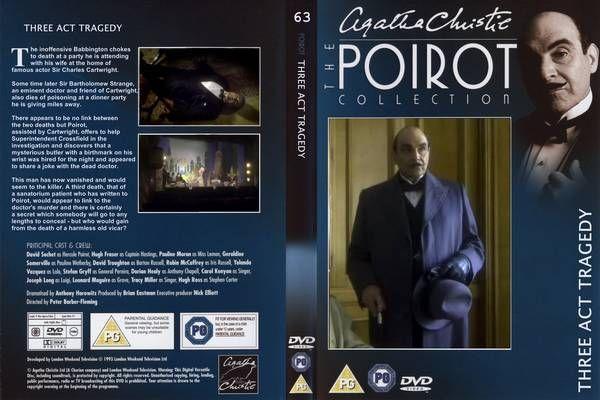 Agatha Christies Poirot Three Act Tragedy 1 Television Front Cover Id86704 Three Act Tragedy Poirot Agatha Christie