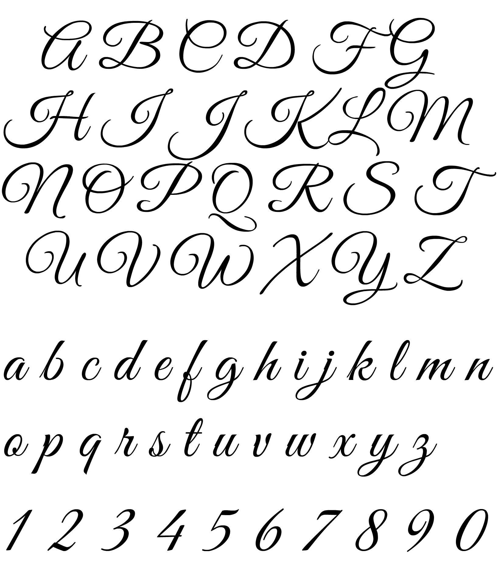 Lettere Alfabeto Corsivo Minuscolo: Alfabeto Per Tatuaggi