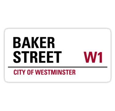 Baker street london road sign die cut sticker • also buy this artwork on stickers