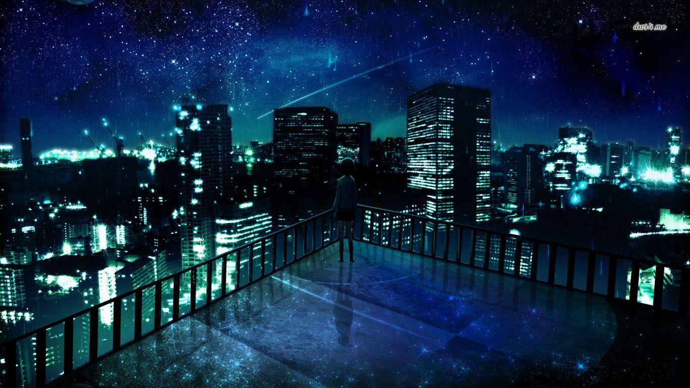 Latest 1366 768 Anime City Anime Scenery Wallpaper Anime Scenery
